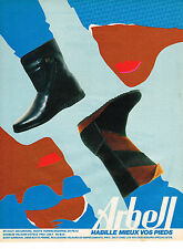 PUBLICITE ADVERTISING 054  1983  ARBEL   boots bottes chaussures