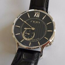 New N.O.A. Slim Watch 18.60 MSLQ-001 Black Dial Swiss Quartz.  Box and Papers.