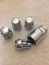 1/2 UNF ALLOY WHEELS LOCKING NUTS + KEY FITS JAGUAR JEEP MODELS