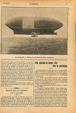 Rigid airship Dirigeable USS Akron (ZRS-4) U.S. Navy USA 1912 ILLUSTRATION