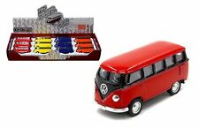 KINSMART 1:64 DISPLAY - 1962 VOLKSWAGEN CLASSICAL BUS Box Set 12 Pieces KT2545D