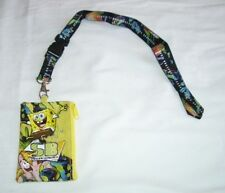 Yellow Spongebob Squarepants Lanyard Fast Pass ID Badge Holder Fast Pass Wallet