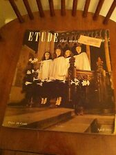 THE ETUDE Music Magazine April 1949 He Is Risen Antique Vintage Collectible old