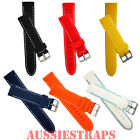 Silicone Rubber Waterproof Watch Band Strap Divers Stitched for Mens and Ladies