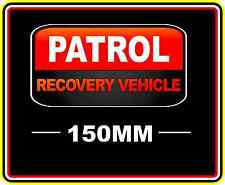 PATROL RECOVERY VEHICLE STICKER DECAL 4WD OFF ROAD TRUCK FUNNY BUMPER BNIP RED