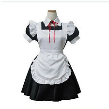New Black & White Anime Maid Halloween Fancy Cosplay Costumes Uniform Dress