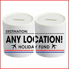 Personalised Any Holiday Destination Location Money Box Piggy Bank Saving Fund