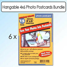 6 x 15-Pack of Photo Postcard 4x6 Put Photos Into Post Cards -White Blank Card