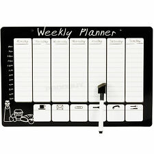 Magnetic Wipeable Weekly Planner Organiser Memo Notice Board Pen Fridge Magnet