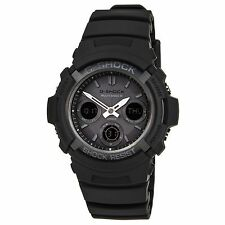 Casio AWGM100B-1A Men's G-Shock Black Resin Tough Solar Atomic Ana-Digital Watch
