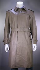 * LOUIS VUITTON * Recent Putty Tan Leather Full Length Leather Trench Coat US 40