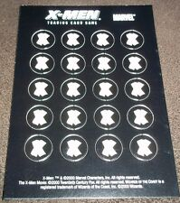 Page Of X-Men Trading Card Game Brand Damage Counters Original NEW Wizards Coast