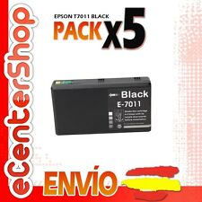 5 Cartuchos de Tinta Negra T7011 NON-OEM Epson WorkForce Pro WP-4525DNF