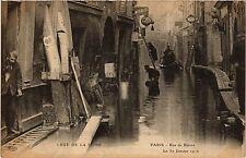 CPA PARIS 5e-Crue de la Seine-Rue de Biévre (324838)