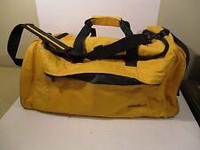 Eddie Bauer Yellow & Black Weekender Duffle Tote Bag w/ Shoulder Strap & Handle
