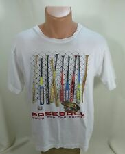 Baseball Swing for the Fence Short Sleeve T Shirt XL White Everyday is Gameday