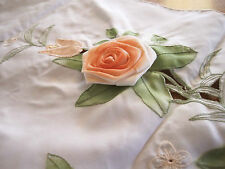 One Piece Beautiful Applique Embroidery Rose Cutwork Curtain Swag Clearance