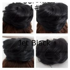 HAIR BUN, Comb In, drawstring, MESSY, CURLY, Hair Extension, like REAL HAIR