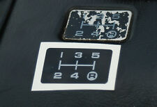 TOYOTA MR2 MK1 GEAR PATTERN PLATE STICKER, AW11 5 speed gear shift 4AGE 4AGZE