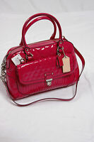 NWT COACH Poppy Liquid Gloss Pushlock Satchel Crossbody #F20721 Magenta