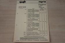 162480) Agria Type 4500 4600 Aufsitzmäher - Preise & Extras - Prospekt 09/1980
