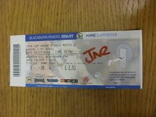 02/11/2006 Ticket: Blackburn Rovers v Basel [UEFA Cup] (folded, 'JNR' wrote on f
