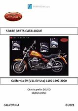 Moto Guzzi parts manual book 1997 & 1998 California EV (V11 EV Usa) 1100