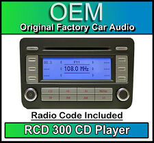 VW dell' interruttore differenziale 300 CD Player GOLF PLUS Autoradio unità di testa, forniti con codice STEREO