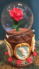 DISNEY PARK BEAUTY AND THE BEAST CAMEO MUSICAL SNOWGLOBE TALE AS OLD AS TIME NEW