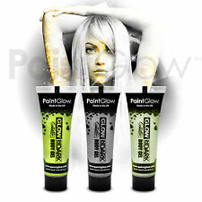 PaintGlow Glow In The Dark Glitter Face & Body Paint (3 Pack) Halloween makeup