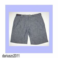New mens POLO Ralph Lauren blue straight fit chambray shorts Size 46B