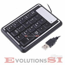 TECLADO NUMERICO USB CON CABLE TIPO CALCULADORA KEYPAD PC PORTATIL NOTEBOOK
