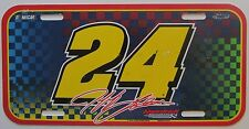 1990's NASCAR JEFF GORDON # 24 DRIVER PLASTIC BOOSTER License Plate