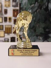 LAST PLACE ECONOMY HORSES REAR FANTASY BASKETBALL TROPHY WITH COLOR LOGO