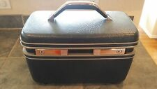 Samsonite Hard Sided Beauty Case in Navy from 1987 Approximately 15x8x10 inches