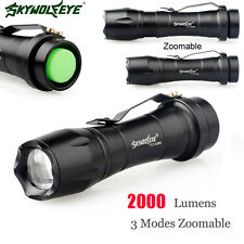 2000LM CREE Q5 AA/14500 3 Modes Zoomable LED Flashlight MINI Police Torch Lamp