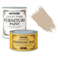 Rust-Oleum Chalky Furniture Paint Chic Shabby 125ml Butterscotch 400ml Dark Wax