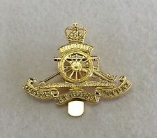 Royal Artillery Brass OR Cap Badge, Gold, Army, Military, Metal Slider, RA