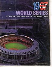 1967 World Series program, Boston Red Sox @ St. Louis Cardinals, Fair ~ unscored
