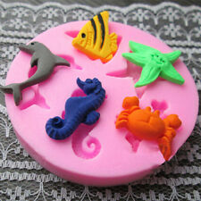 Sea Animal Silicone Fondant Mold Sugar Craft Cake Baking Decorating Tools Mould