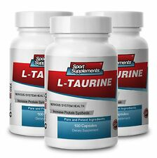 L-Taurine Healthy Nervous System 500mg (3 Bottles) Free Shipping