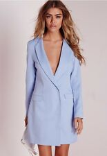 Missguided L/Sleeve Blazer Dress Size 10 BNWT RRP £38.99 Powder Blue Uk Freepost