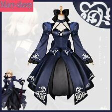 Anime Fate/stay night Black Saber Cosplay Costume Full Set Custom Made Hot