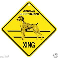 German Shorthaired Pointer Dog Crossing Xing Sign New