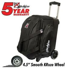 KR Strikeforce Cruiser Smooth Black 2 Ball Roller Bowling Bag