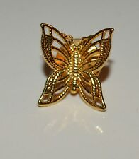 Avon Brass Butterfly Tie Tack Lapel Pin Brooch