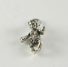Vtg Baby with Pacifier Pendant 925 Sterling Silver Charm Jewelry Shower Gift