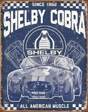 Shelby Cobra All American Muscle Car Wall Decor Since 1962 Retro Metal Tin Sign