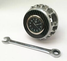 2016 Force India F1 wheel nut office desk clock Guys carbon fibre Formula 1 gift