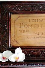 Pontet Canet French Bordeaux Framed Wood Wine Art Sign